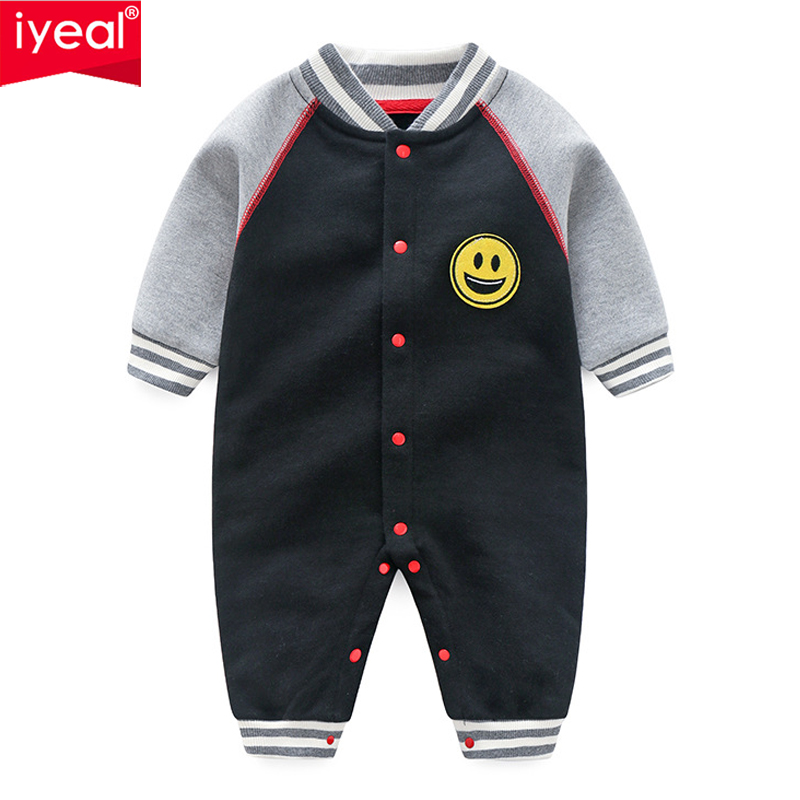 IYEAL Newborn Baby Romper Sport Jumpsuit Infant Baby Boy Girl Toddler Kid Clothes Long Sleeve Soft Cotton Baby Coveralls 0-12M baby boy rompers cotton newborn baby clothes bateman superman kid girl clothes long sleeve baby boy clothing set infant jumpsuit
