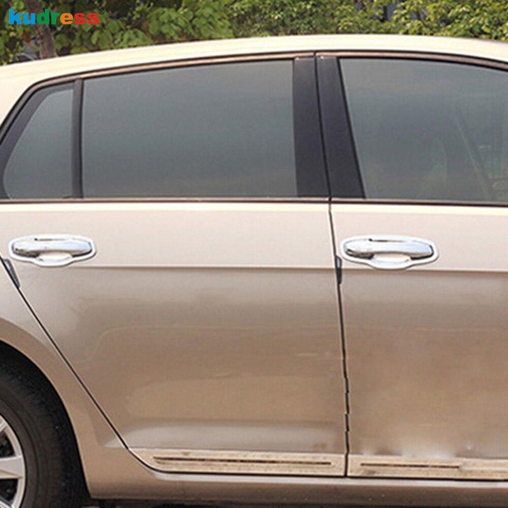 Для Volkswagen VW GOLF 7 GOLF 7 2013 Аксессуары ABS хромированные дверные ручки крышки отделка наружная дверная ручка декоративная рамка