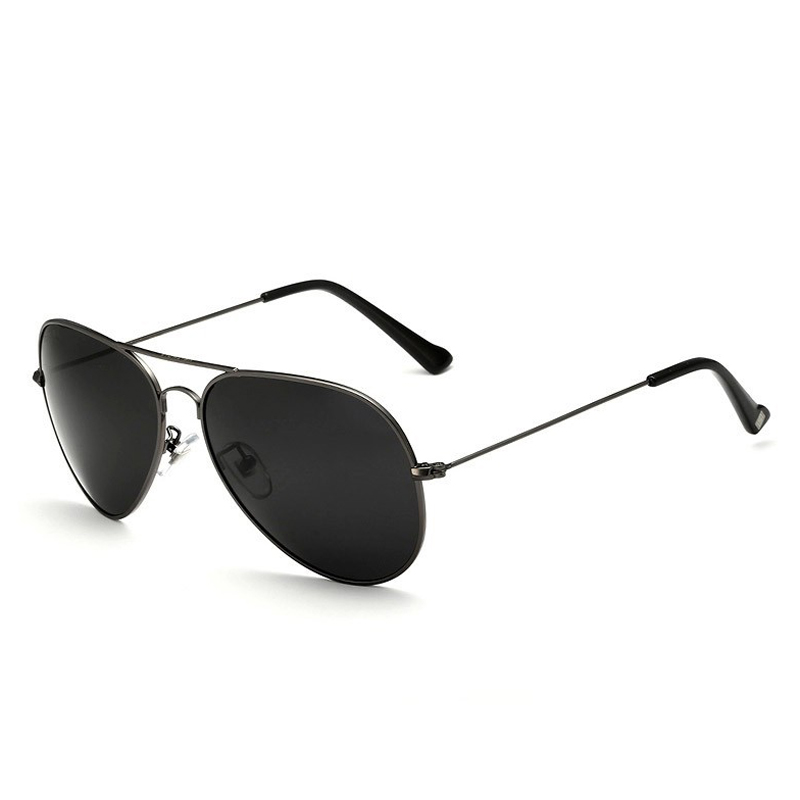 Солнцезащитные очки унисекс VEITHDIA, брендовые классические дизайнерские очки с зеркальными поляризационными стеклами, степень защиты UV400, для мужчин и женщин - Цвет линз: grayblack