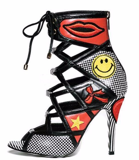 hot new 2018 women gladiator high heels shoes PU snake