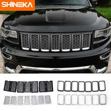 SHINEKA Racing Grills for Jeep Grand Cherokee 2014 2019+ Insert Mesh Vent Bezel Ring Outlet Exterior Styling for Grand Cherokee