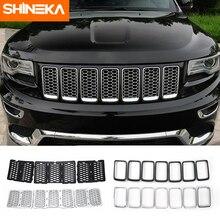 SHINEKA grilles de course pour Jeep Grand Cherokee 2014 à 2019 + insertion de filet de ventilation, pour sortie de bague, style extérieur