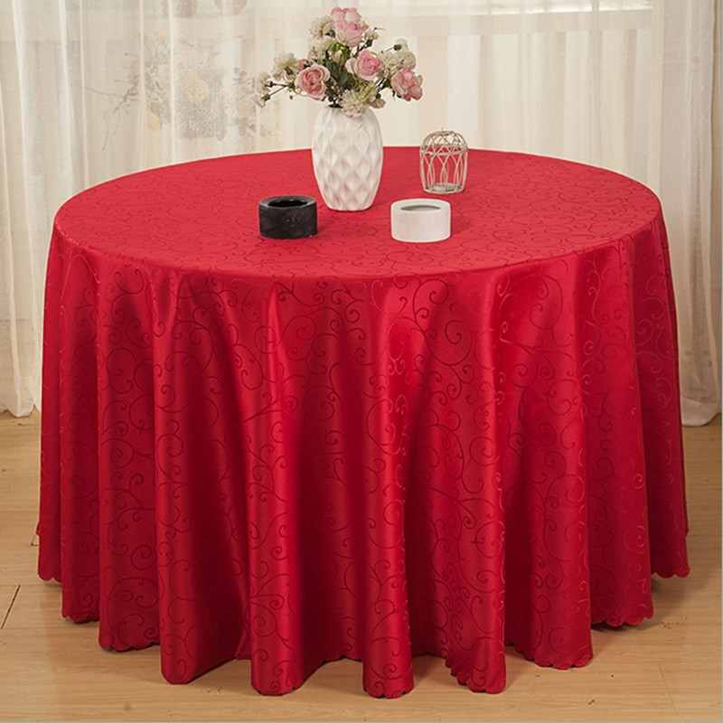 Online buy wholesale round table cover from china round for Decoration table ronde