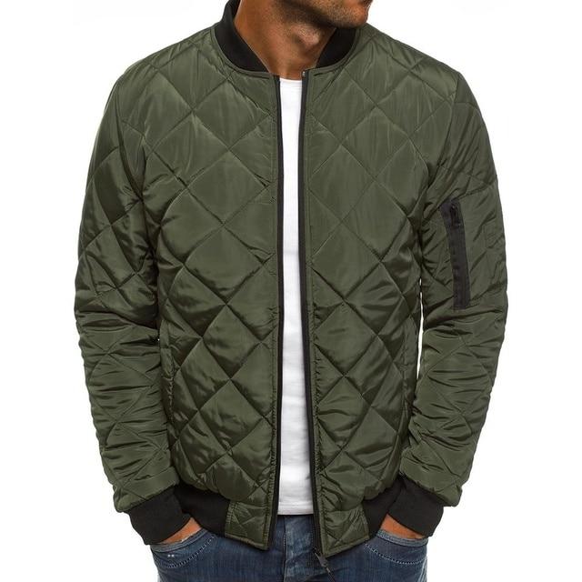 ZOGAA 2019 Men Spring Jacket Wind Breaker Casual Light Plaid Parka Solid Color Brand Overcoat Men Thick Clothes Zipper Jackets