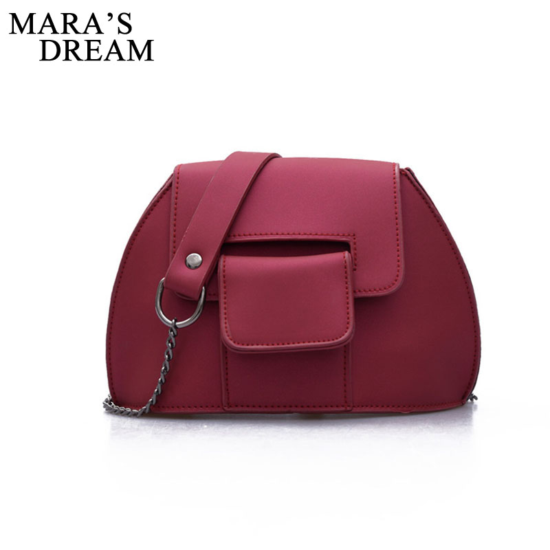 Mara's Dream Women Brand Crossbody Bag Fashion Women Bag Handbag Ladies PU Leather Famous Solid Color Bags Saddle Tote Bag