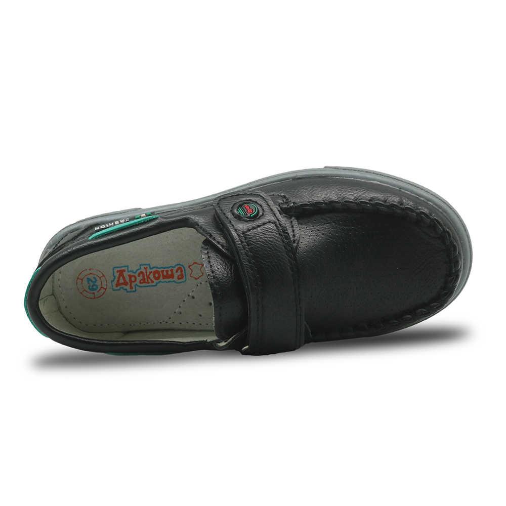 Apakowa ฤดูใบไม้ร่วงรองเท้าเด็กรองเท้าหนัง Pu เด็กวัยหัดเดิน Boys Loafers โรงเรียนรองเท้าสำหรับชายใหม่สบายๆรองเท้า EU 25-30