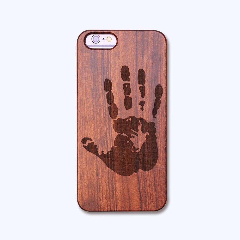 """Retro dřevěné pouzdro pro coque iphone 6 přírodní řezbářství s odolnými plastovými hranami pro iPhone 6s 4,7 """""""