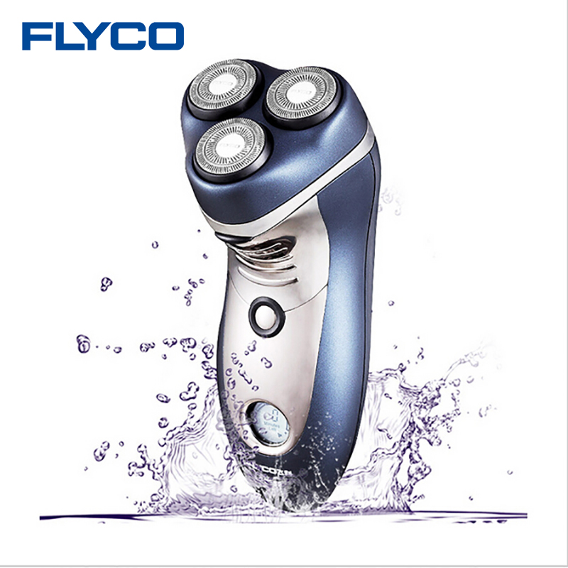 Flyco 3D Intelligent Cutting Head Electric Shaver Body Washable Shaver 110-240v 4W Shaving LCD Triple Blades Razor for Men FS359 electric shavers men trimmer electric head razor shaver usb shaving blades triple blade washable povos pw830 100 240v