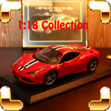 Christmas Gift 458 Speciale 1/18 Metal Model Car Sports Vehicle Collection Alloy Scale Big Decoration Simulation Toys Cars Fans