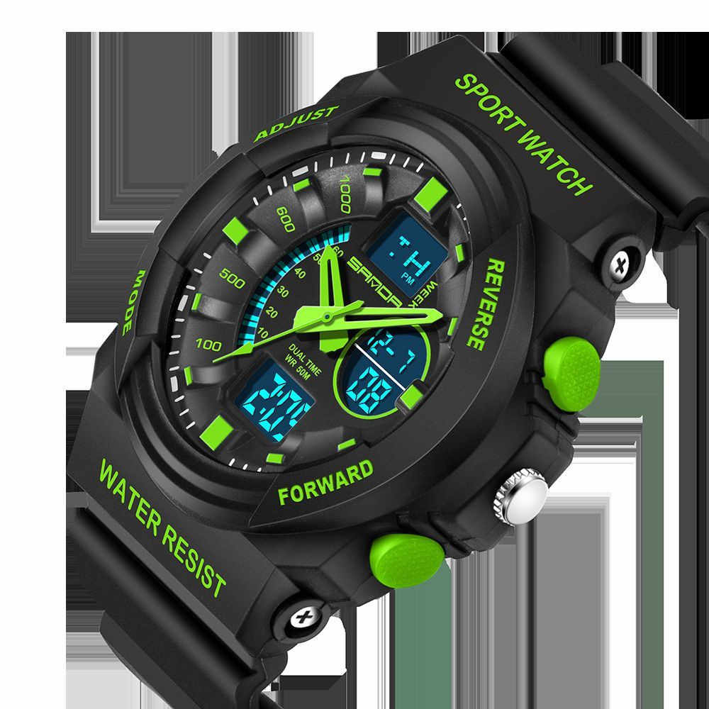 رائع جديد الرياضة للماء 30 بار رجالي LCD الرقمية التناظرية الكوارتز تاريخ إنذار ساعة معصم Masculino Reloje هبوط السفينة