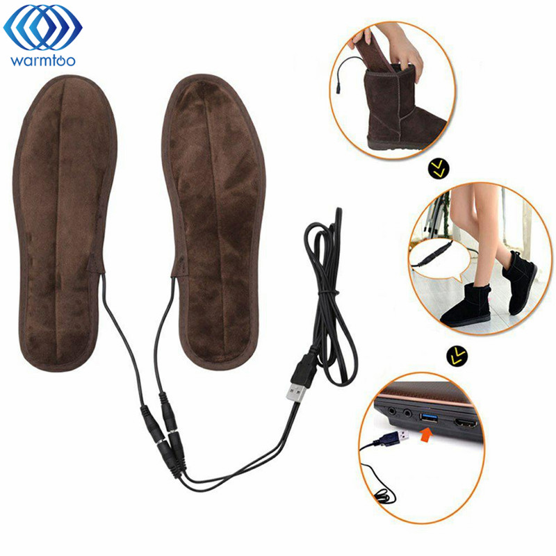 USB Heated Insole Electric Powered Plush Fur Heating Shoe Pad Winter Keep Warm Foot Shoes Insole new usb heated insole electric powered plush fur heating shoe pad winter keep warm foot shoes insole