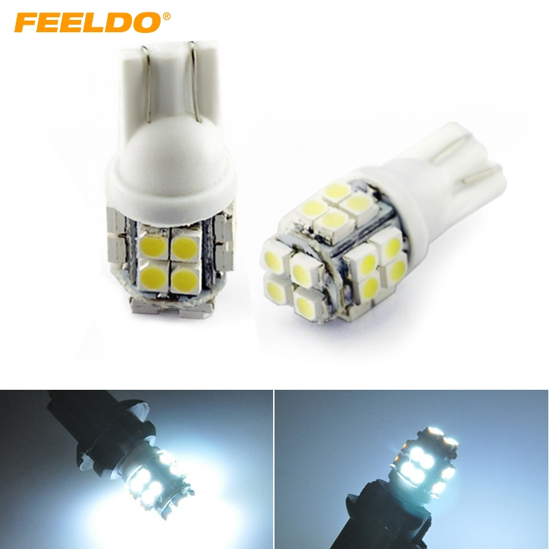10x T10 20-SMD 1210 LED 194,168,W5W Blue Super Bright Car Wedge Light Bulb Lamp