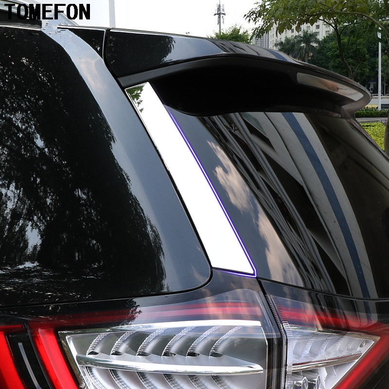 For Ford Edge 2015 ABS Chrome Car Spoilers Rear Back