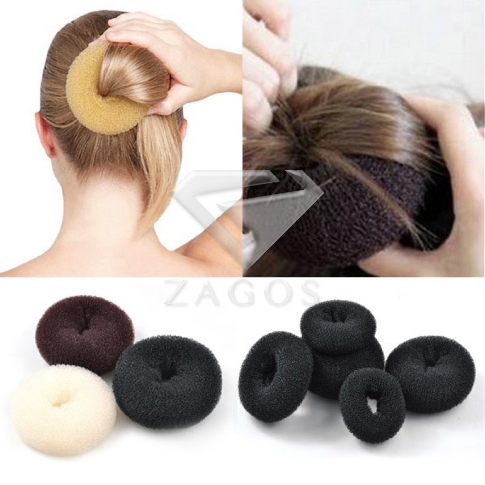Move the donut as close to the loose end of your pony tail as possible. Take the hairs that poke through the donut hole and roll them over the edge of the donut. Holding the loose ends of hair against the donut's outer side, ROLL the donut down your pony tail toward your head. Once you get down to your head, tuck tuck tuck any loose pieces. exeezipcoolgetsiu9tq.cfs: