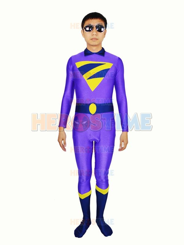 El Wonder Twins Zan Spandex Traje de DC Comics Superhero Costume Mens Adultos de Halloween Cosplay Traje Zentai Catsuit Custom