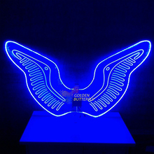 LED Bird Wings Glowing Fashion Women Lady Luminous Angel Wings Catwalk Show Clothing Light Suits Dance Dress Accessories