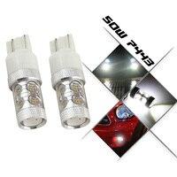 2 Peças Nenhum erro 7440 7444NA T20 7443 33 LED LED Cree chips de Alta Potência LEVOU Luz Lateral e Luz de Stop Luzes Lâmpadas branco