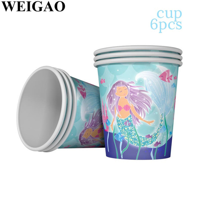 Cup Mermaid party plates 5c64f5cb314ca