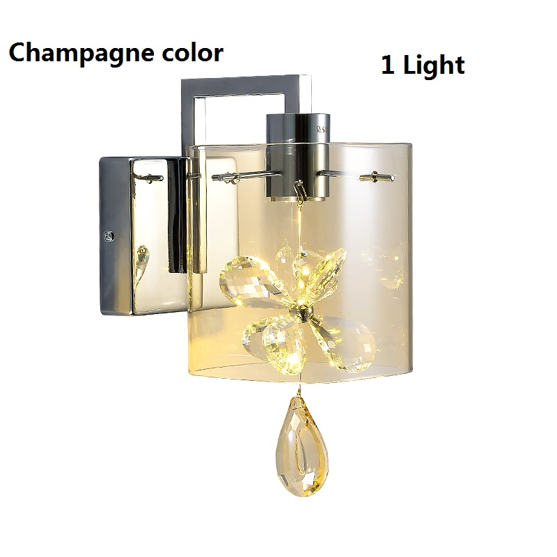 Modern Butterfly Crystal LED Wall Light fixtures Glass Shade Wall Lamp Bedroom Bed lamp Living Room iluminacion led 110 240V modern lamp trophy wall lamp wall lamp bed lighting bedside wall lamp