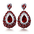 New 2017 luxury trendy new looking jewelry for party green and champagne aaa cz earrings party green cz earrings