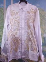 Koszule męskie prom ruffles normalne Mężczyźni suits Groomsmen Smokingi Hafty kołnierzyk koszuli z długim rękawem męska Małżeństwo koszule