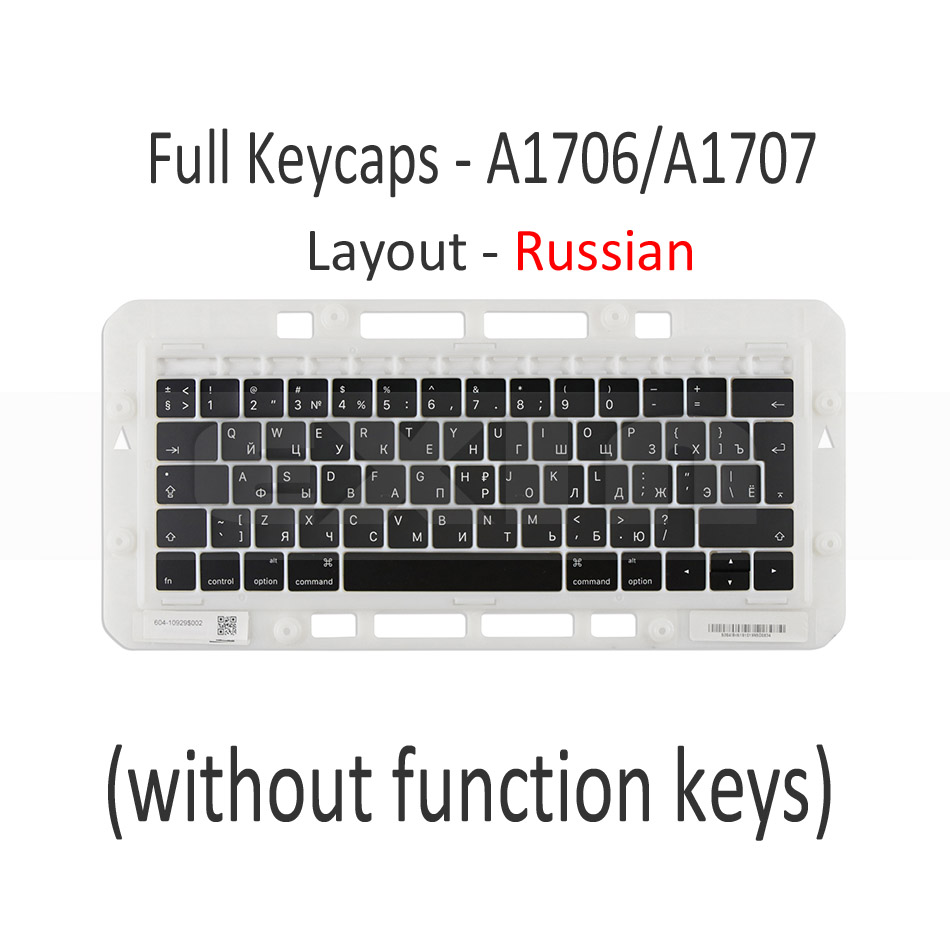 """Image 2 - Genuine for Macbook Pro Retina 13"""" 15"""" A1706 A1707 A1708 Russian Russia RU Keyboard Keys Key Cap Keycaps Late 2016 Mid 2017-in Replacement Keyboards from Computer & Office on"""
