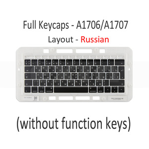 "Image 2 - Genuino per Macbook Pro Retina 13 ""15"" A1706 A1707 A1708 Russo Russia RU Tastiera Tasti Chiave Cap Keycaps fine 2016 Metà 2017"