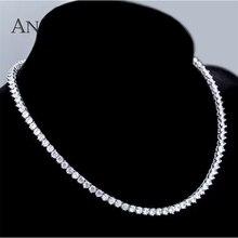 Angel สาวใหม่ Bijoux Link Chain 44 ซม./60 ซม. สีขาวทอง 3 prongs สร้อยคอโซ่สำหรับผู้หญิง/ผู้ชายของขวัญงานแต่งงาน