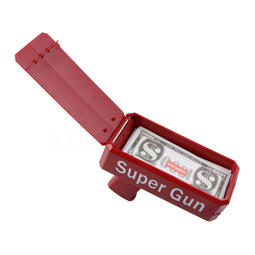 Christmas Gift Party Toys Game 1PCS Cash Cannon Funny Money Gun Toy Fashion Toy Make It Rain Money Gun Red Pistol Toy in Toy Guns from Toys Hobbies