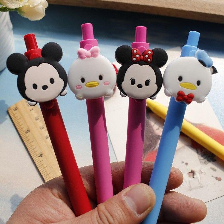 Ofis ve Okul Malzemeleri'ten Başlık Kalemleri'de 40 adet/grup yaratıcı karikatür Dikiş mouse Donald Buzlu varil Şeker renk kaliteli jel kalem öğrenciler hediye İmza kalem kırtasiye'da  Grup 3