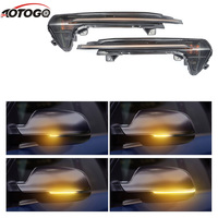 2pcs Smoked Side Mirror Sequential Blink Turning Signal Lights For Audi A6 C7 RS6 Led Flowing Rear View Signal Lamps