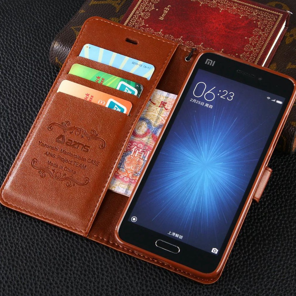 5718a8bec8 Vintage Flip Stand PU Leather Wallet Case For Xiaomi Redmi Note 5 4 4X 3 S2  5A Mi 8 8SE 6 6X 5S Mi5s Plus Max Max2 Max3 Pro Mix