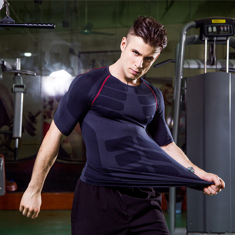 YD 2017 Workout Compression Tights Fitness Basketball Jersey Short Sleeve Running T-shirts Gym Yoga Black Shirts Men Sport Suits ems hips trainer
