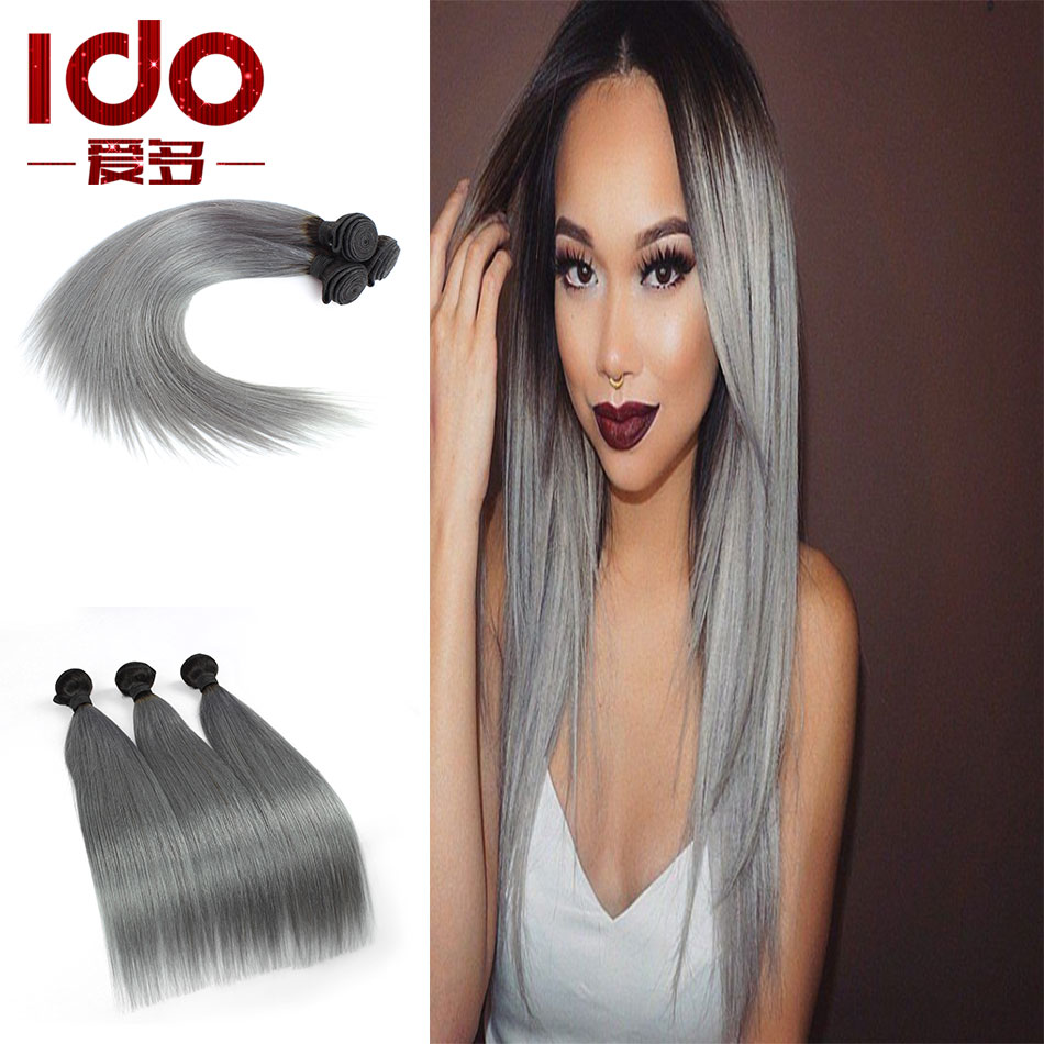 7A Brazilian Straight Virgin Hair Platinum Grey hair ...