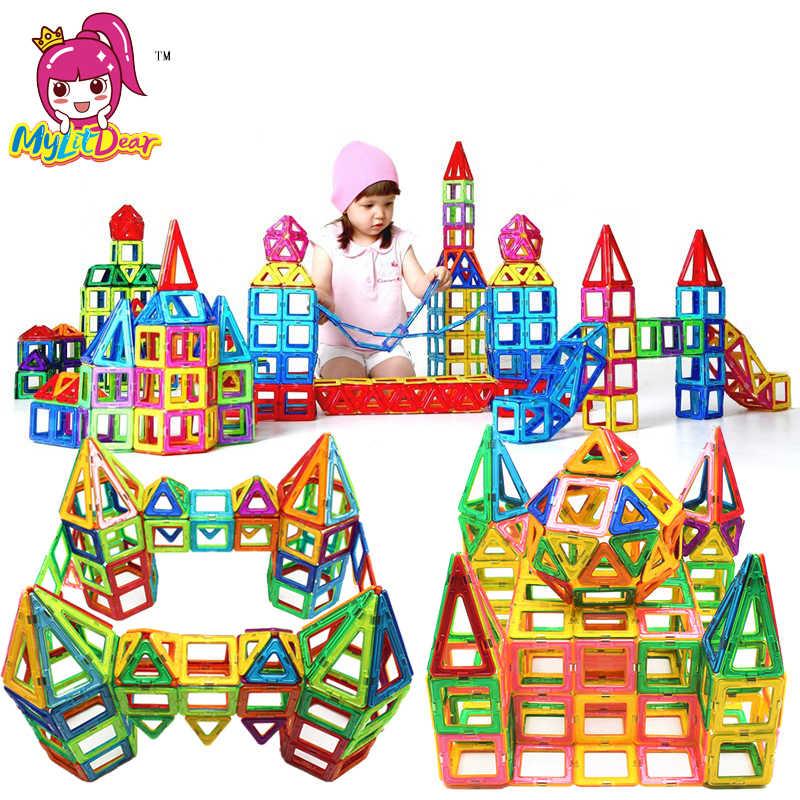 Новый 180 шт Мини Магнитный дизайнерский Строительный набор модель и строительные игрушки пластиковые магнитные блоки Развивающие игрушки для детей подарок