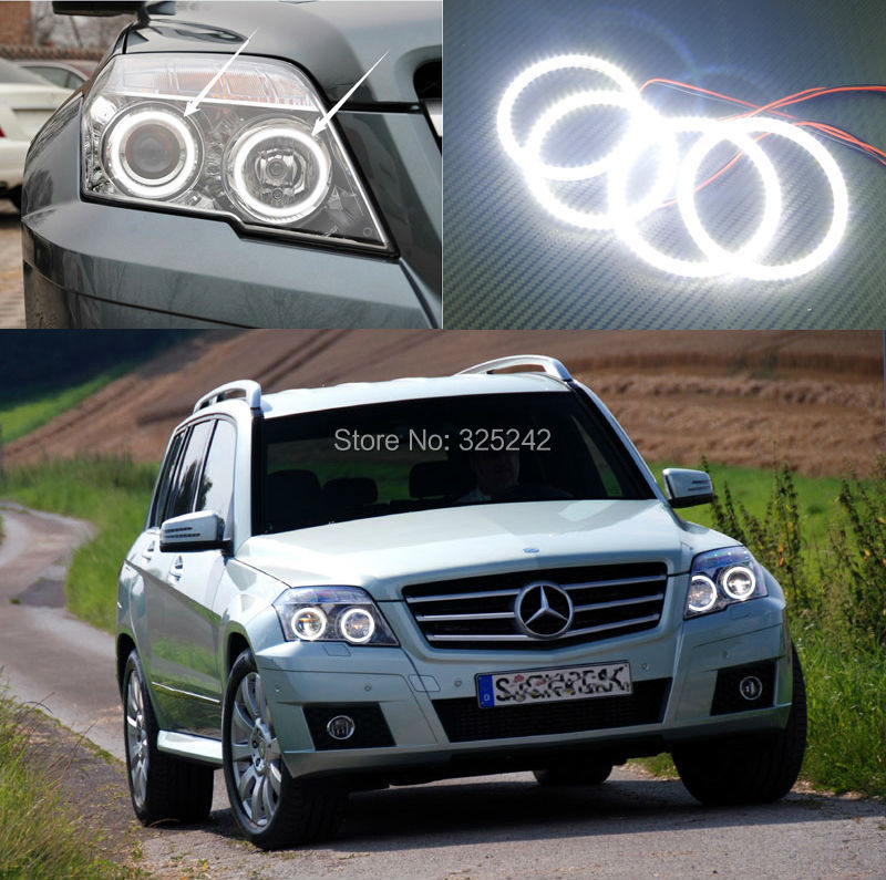 ФОТО For Mercedes-Benz GLK 280 300 320 350 2009 2010 2011 2012 Excellent angel eyes Ultra bright illumination smd led Angel Eyes kit