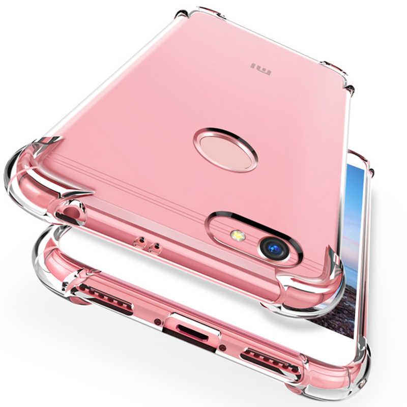 Подушка безопасности для Прозрачный чехол для телефона для Xiaomi Redmi Note 6 Pro Note 5 6 6A 5 Plus mi 8 SE 6 mi A1 A2 5X 6X Pocophone F1 Мягкий ТПУ чехол Капа