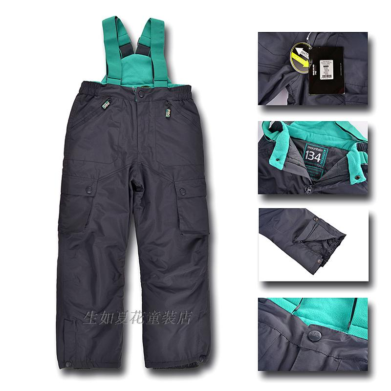 Germany Brand Children Ski Pants -20 degrees size 92-164  Winter Boys Girls Snow Pants Cotton-padded Kids outerwear overalls 2016 new brand children snow runner self balance scooter snow bicycle for kids ski kits