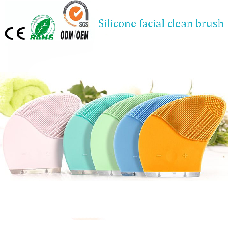 Waterproof Electric Ultrasonic Vibrating Silicone Face Cleaning Cleanser Brush And Facial Cleansing Brush Cleaner Skin Massager electric face massager remove blackhead waterproof deep cleansing brush silicone face cleanser facial cleansing instrument