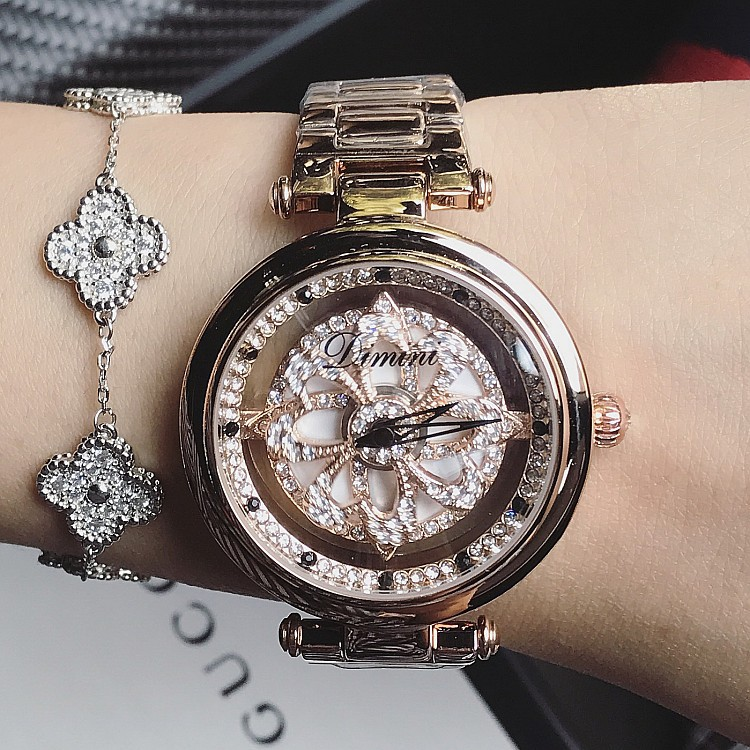 ladies watch Women watches Shining Rotation Dress Watch Big Diamond Stone Wristwatch watch woman relogio montre