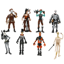 8pcs/lot PUBG Game Llama Figure Toys Halloween Style Fortnight Night Character Model Doll Toy Best Christmas Gifts For Kids 9pcs set 10cm cute game fortnight vinyl figure collection model doll toys game for nited action figure toys gifts for children