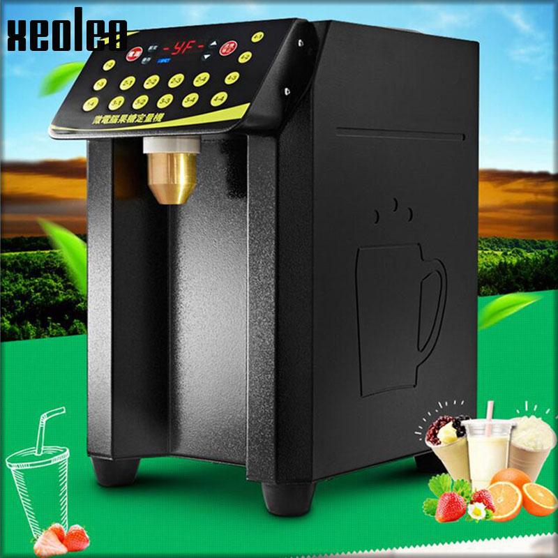 Xeoleo máquina de frutose 8.5l 16 grade máquina quantitativa automático dispensador de xarope de frutose máquina de açúcar de frutas