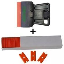 100pcs Plastic Blades 1PC Razor Scraper For Snow Ice Shovel Sticker Old Glue Remover Ceramic Oven Car Paint Cleaner E19+E14