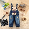 9M-24M Baby Girl Clothing Bebe Boy Overalls Animal Bear Long Pants Cartoon Kwaii Jumpsuit Denim Jeans Rompers Toddler Clothes