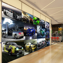 Прямая доставка на заказ 3D обои крутой спортивный автомобиль роскошный автомобиль клубный клуб современный настенный фон фото обои 3D