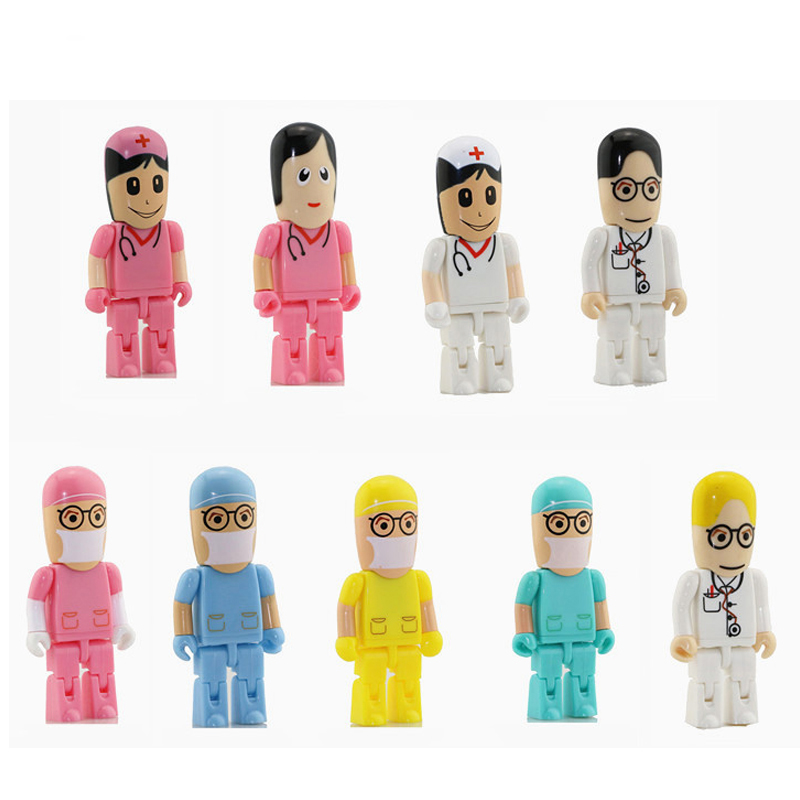 Nueva llegada todos los estilos Doctor Nurse modelos USB 2.0 Flash Memory Stick Pen Drive 4G 8GB 16GB 32GB dentista USB Flash Drives U dick