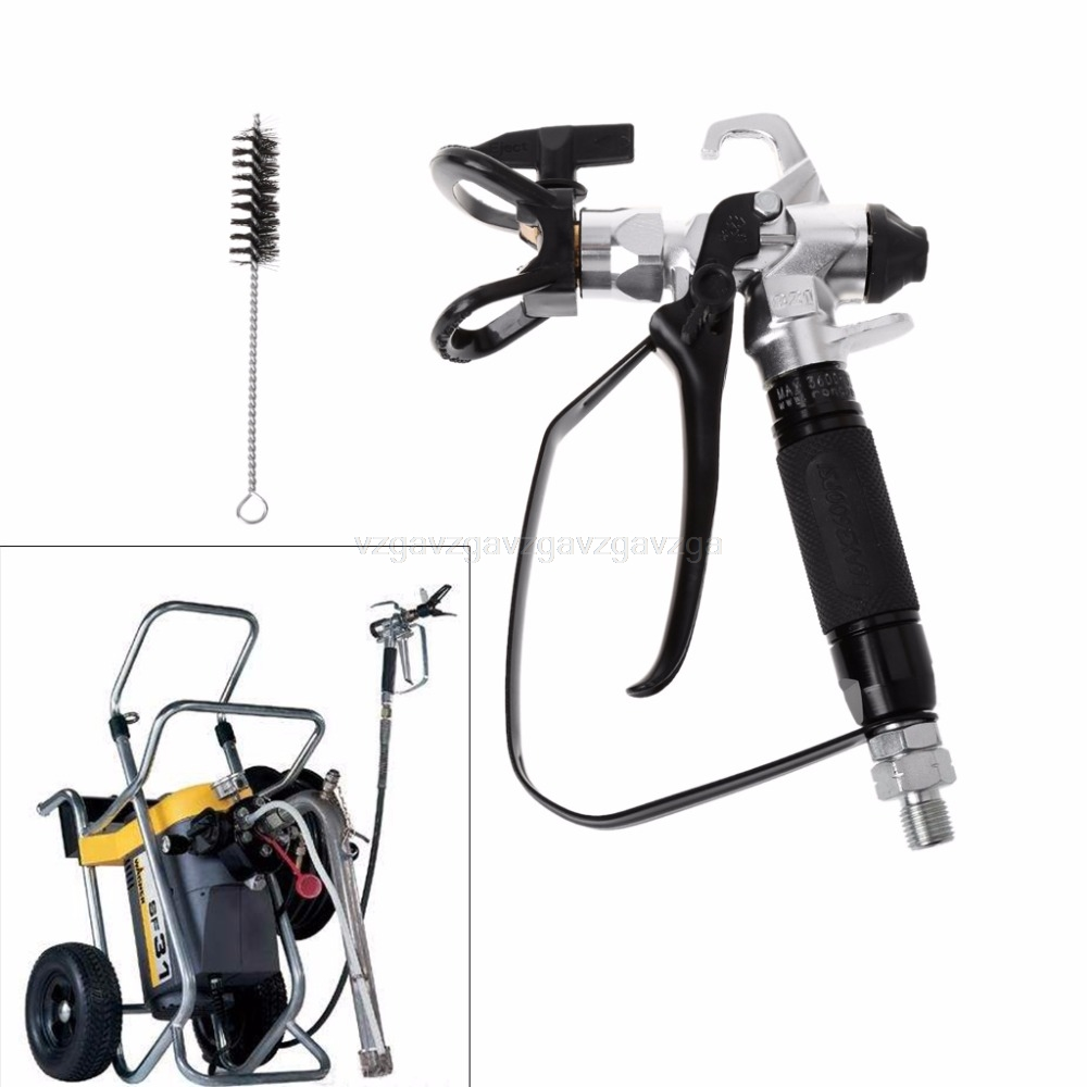 3600PSI Airless Paint Spray Gun For Wagner Sprayers With 517 Tip Nozzle Tools S06 dropship цена