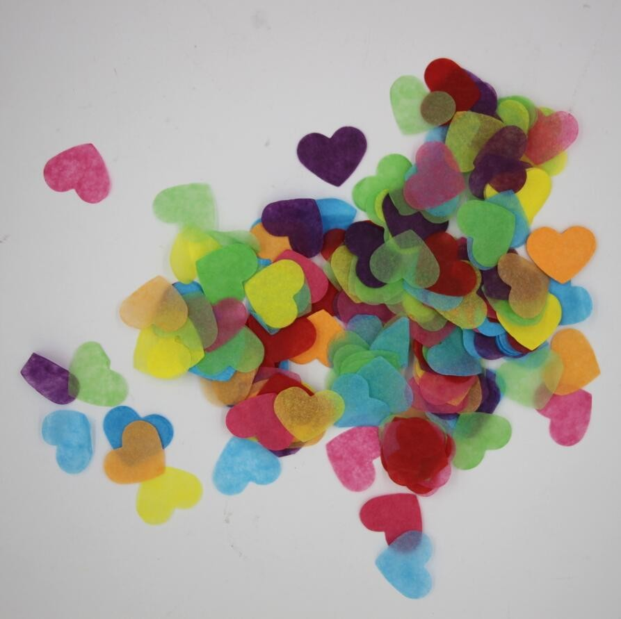 10g Bag Rainbow Color Hearts Confetti Wedding Party Decorations Table Decor Baby Girl Birthday