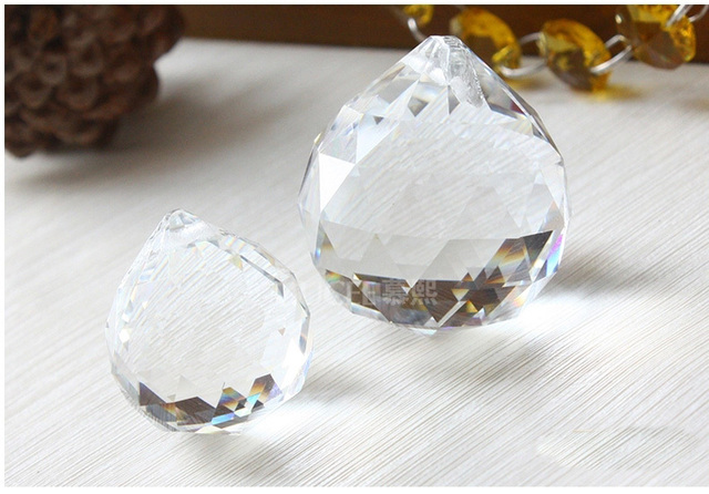 10pieces 20mm Transpa Crystal Hanging Faceted Ball Pendants For Chandeliers Hot Beautiful Glass Lighting