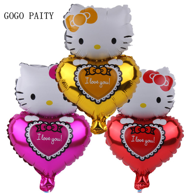 GOGO PAITY Mini hello kitty aluminum balloon, party layout decoration, high quality